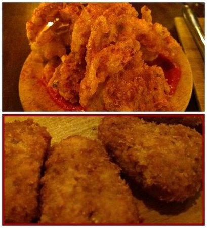 Naked for Satan: Croquettes and Soft Shell Crabs
