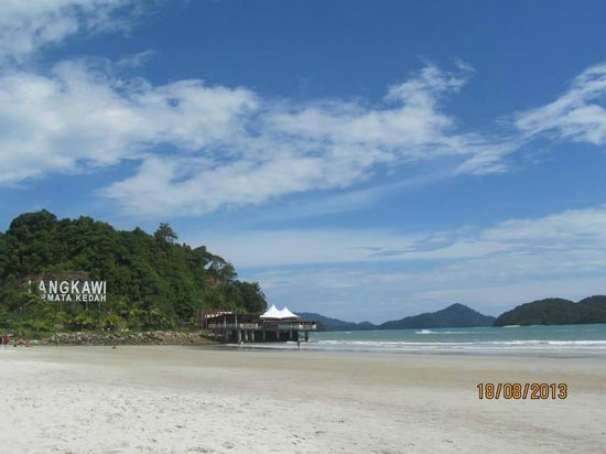 Cenang Beach: Langkawi beach sign