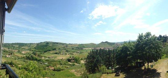La Pieve Albergo Ristorante: Udsigten fra panorama terrassen