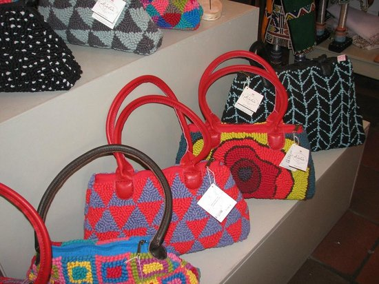 Zevenwacht Cellar & Vineyards: Handmade handbags at gift shop