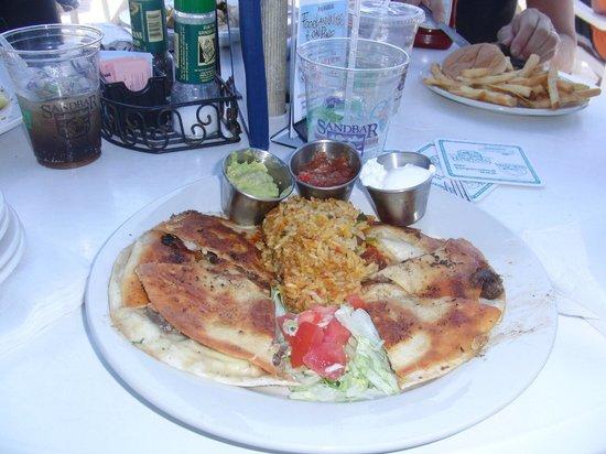 Sandbar Restaurant : Mittagessen in der Sandbar