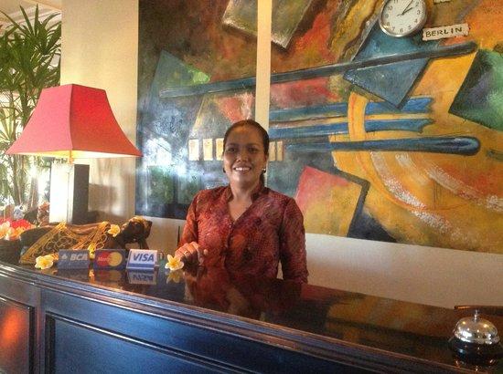Bali Paradise Hotel Boutique Resort : Putuh - wonderful staff member