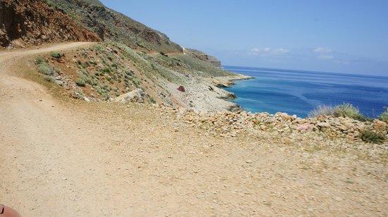 Balos Beach and Lagoon : дорога на Балос