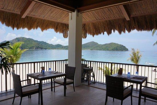 El Nido Resorts Pangulasian Island: your view as you eat breakfast