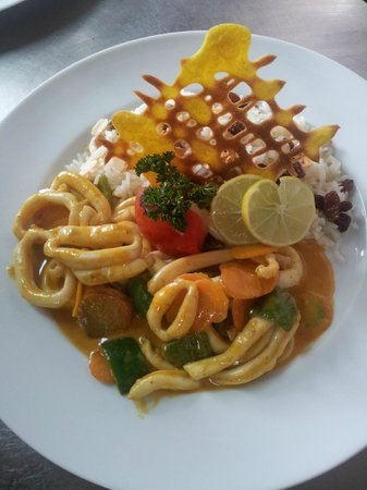Hotel La Ribaudiere : calamar à la provençale