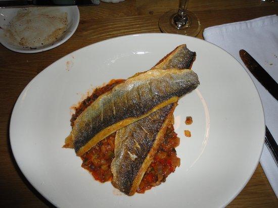 Crannog Seafood Restaurant: Seabass and ratatouille