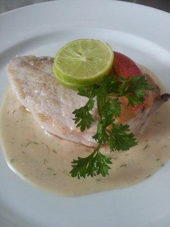 Hotel La Ribaudiere : pavé de thon sauce fenouil