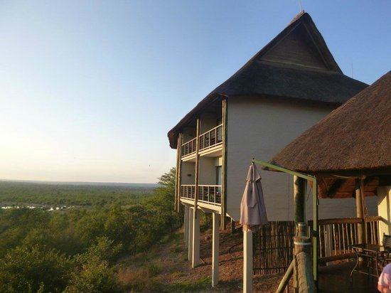 Victoria Falls Safari Club: View of room from outdoor dining area