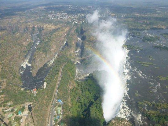 Victoria Falls Safari Club: Victoria falls from helicopter