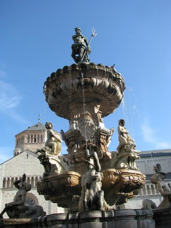 Doss Trento: Detail of Neptune Fountain in main Square