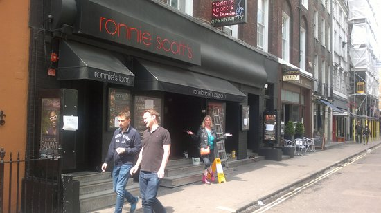 Ronnie Scott's : Outside the new look Ronnie Scotts on May 14th, 2014