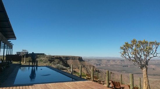 Fish River Lodge: view from the deck