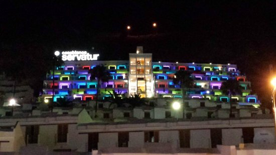 Servatur Casablanca Hotel : Looking at hotel from Puerto Rico centre