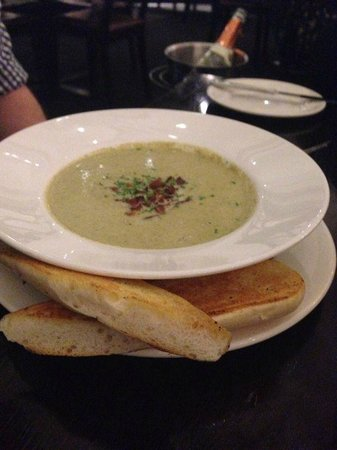 The Grand Cafe: good soup $10.50