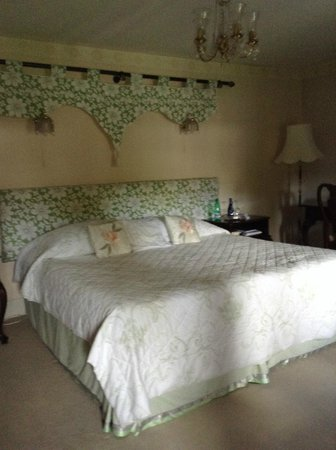 The Great House Hotel: This is the bedroom we stayed in. So, apparently, did Prince Charles.