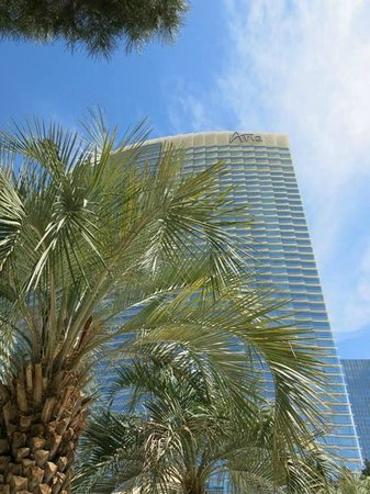 ARIA Resort & Casino : View of hotel from pool