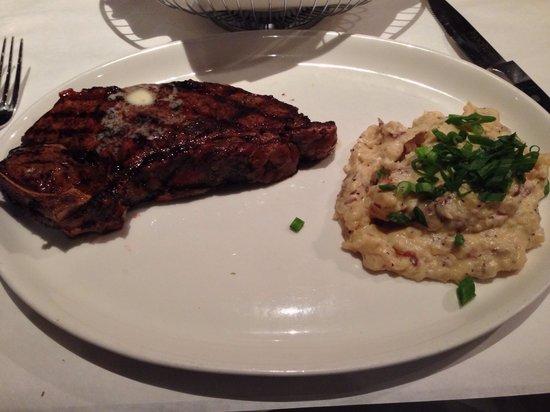 MoonFish: 20oz Steak with Scallion Mashed Potatoes