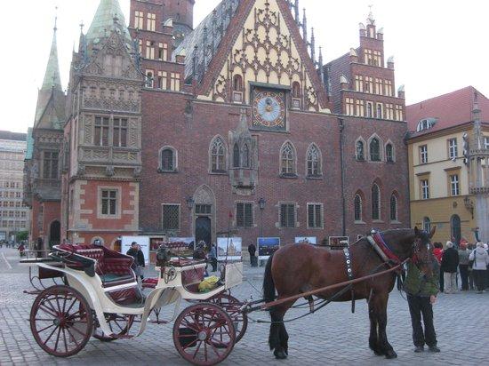 Place du marché (Rynek) : Wroclaw Rathaus Square