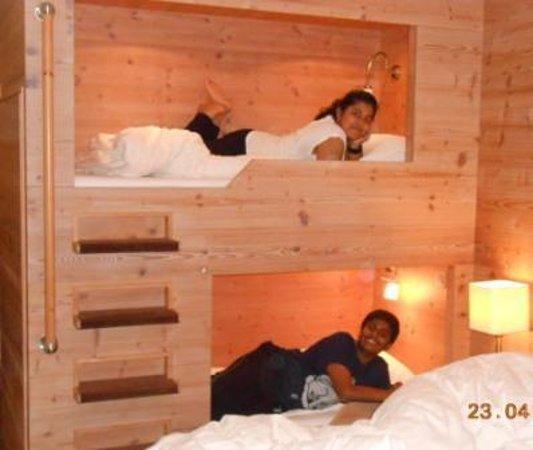Hotel Interlaken: Star bunker bed in family room