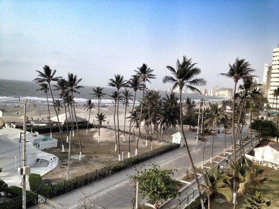 Hotel Caribe : Vista da janela do apartamento