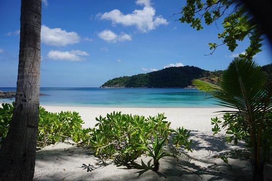 Freedom Beach: View from beach chair