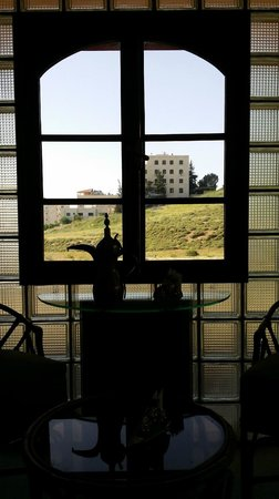 Amman International Hotel : View from Window of Breakfast dining room