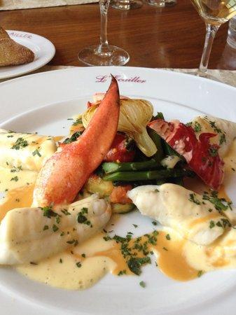 L'Ecailler : Sole, homard bleu petits légumes