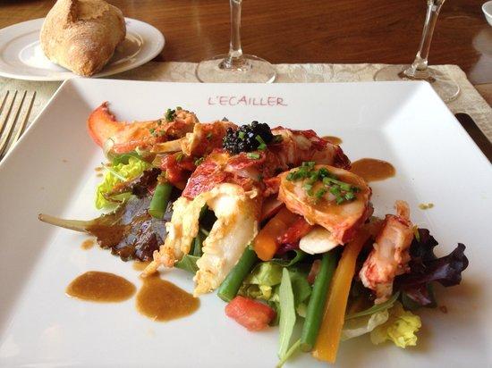 L'Ecailler : Salade tiède homard bleu