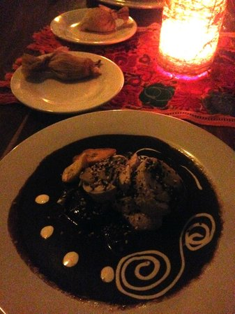 Cetli: brown chicken mole
