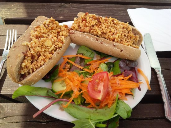 Withypool Tea Rooms: Cheese & Pickle Baguette !