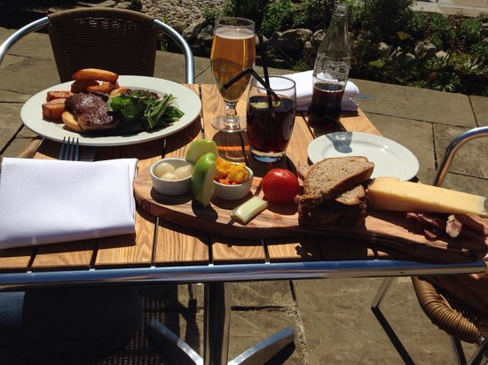 The Hengist: Food from the terrace menu 
