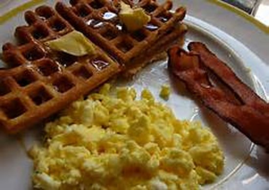 Fairfield Inn New Haven Wallingford : Complimentary Breakfast Buffet featuring make your own waffles, scrambled eggs, fruits &  much m