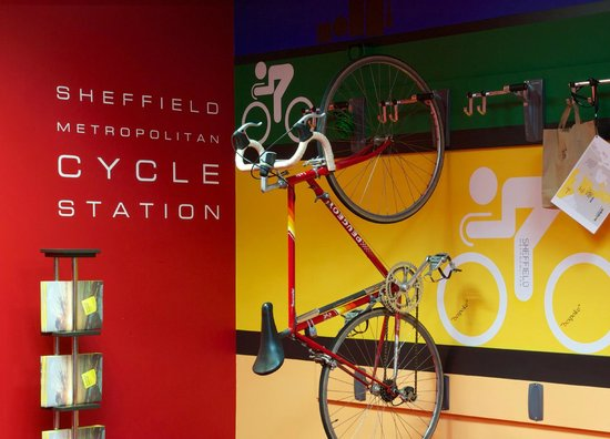 Sheffield Metropolitan: Cycle Rack  Reception