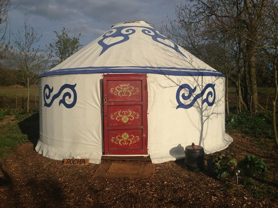 Plush Tents Glamping: Outside of our Yurt