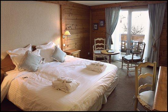 Chalet hotel La Marmotte : Chambre supérieure double