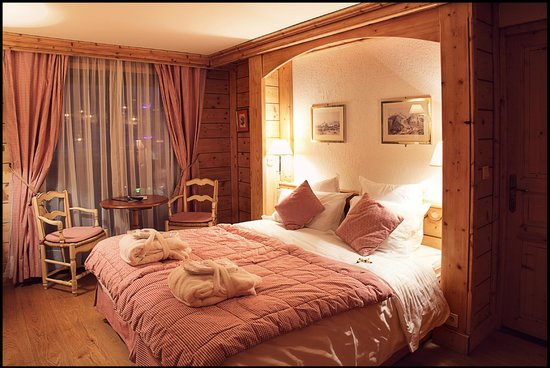 Chalet hotel La Marmotte : Chambre classique double