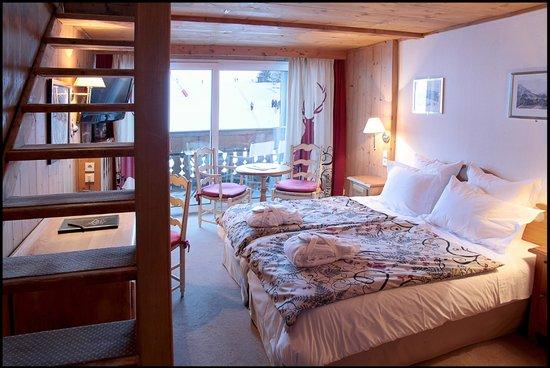 Chalet hotel La Marmotte : Chambre chalet (familiale)