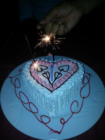 Ambrosia Heart Shaped Birthday Cake