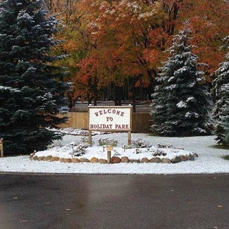 Holiday Park Campground : Late fall shot of Holiday Park