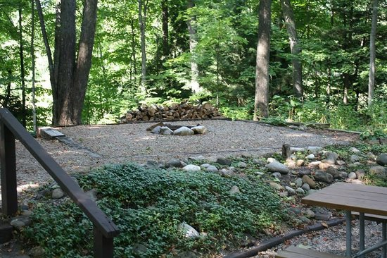 Holiday Park Campground : Every site features a fire ring.