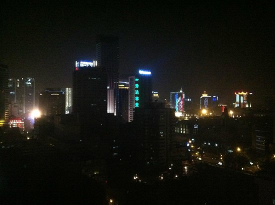 Holiday Inn Express Chengdu Gulou: Night-time view
