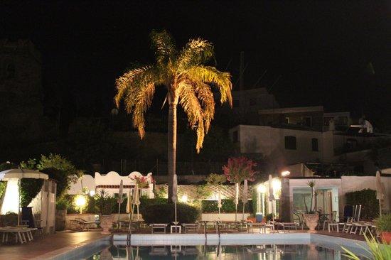 Hotel Lord Byron: dal salottino, di sera