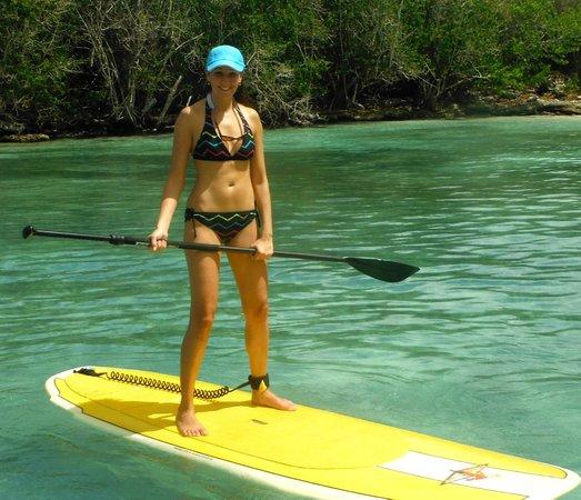 Bayahibe SUP (Stand Up Paddle Boarding): great balance test!
