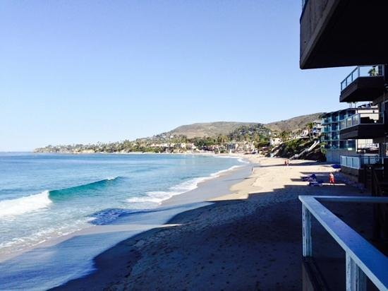 Pacific Edge Hotel on Laguna Beach: view from our balcony!