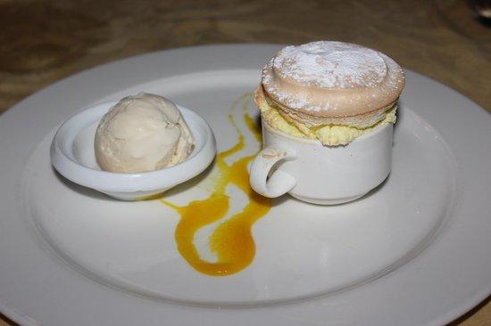 Cap Maison: Passion Fruit Souffle with Vanilla Ice Cream