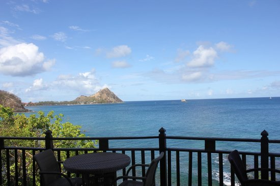 Cap Maison: Our view from breakfast of Pigeon Island