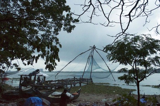 Chinese Fishing Nets: a scene at dusk