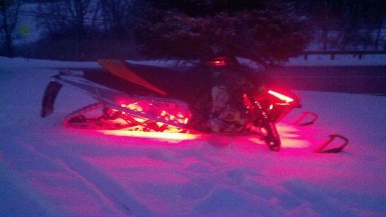 Frederic, MI: purple sled