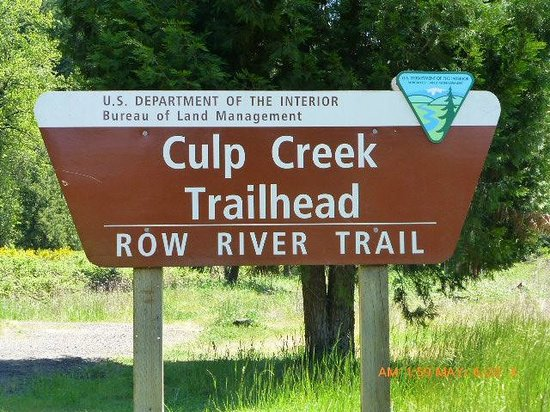 Row River Trail: Terminus of the Trail