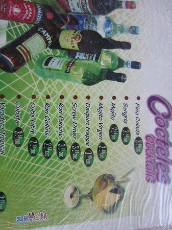 Kiki's: Drink Prices